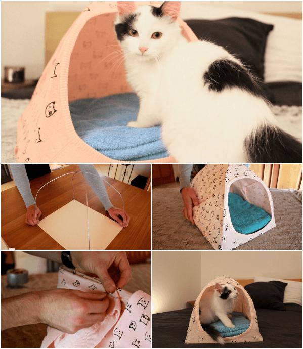 cabane en carton pour chat