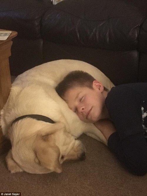 Joel, jeune autiste,et son chien