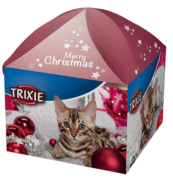 boite surprise pour chat, cadeau de Noël