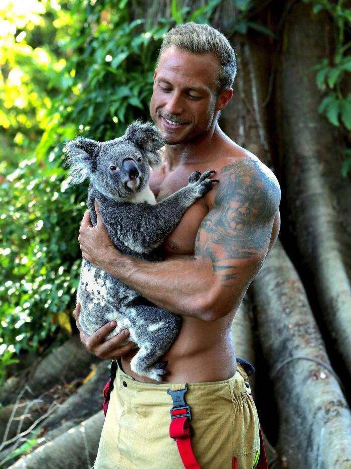 pompiers australiens et animaux
