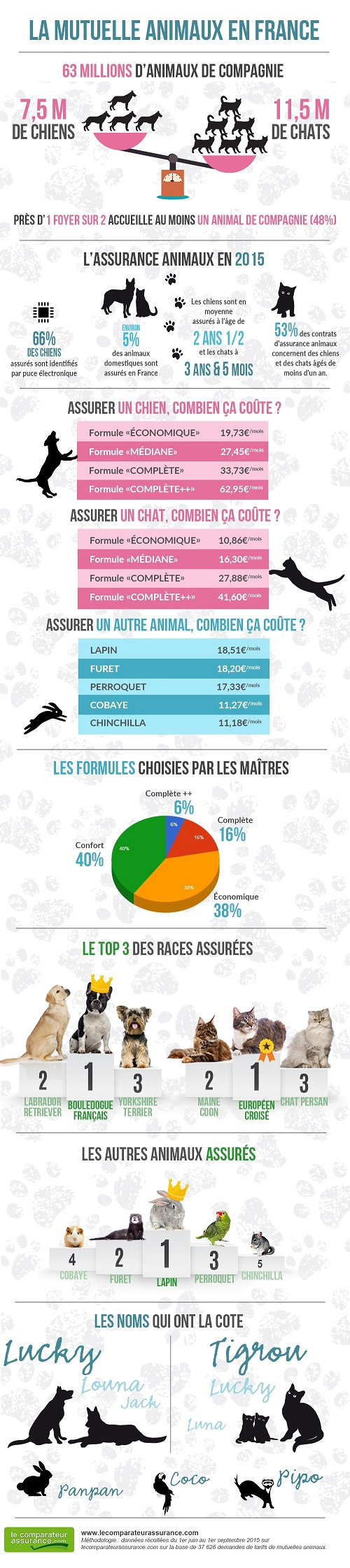 infographie assurances animaux en France